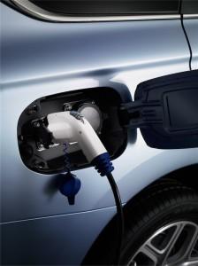 Mitsubishi PHEV elektrische auto stekker