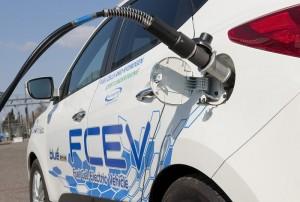 Hyundai ix35 Fuel Cell tanken