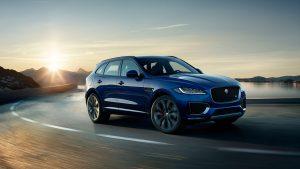 Jaguar F-PACE blauw